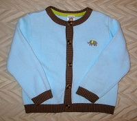 Carter's Baby Toddler Boy Light Blue Sweater with Elephant 18MTH