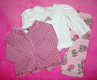Vitamins Kids Baby Toddler Girl 3PC Sweater Pants Top 12MTH