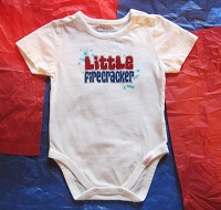 4th of July The Children's Place Infant Baby Girl Boy Onesie 3-6MTH