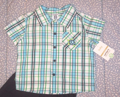 Carter's Baby Toddler Boy 2PC Short Set w/Turtle 18MTH