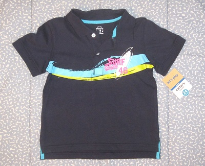 Carter's Baby Toddler Boy Blue Surf League Shirt 24MTH