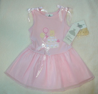 Rare Editions Toddler Girl Pink Birthday Dress 6