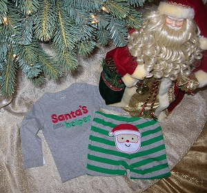 Christmas Carter's Infant Baby Boy Santa's Helper Outfit 12MTH
