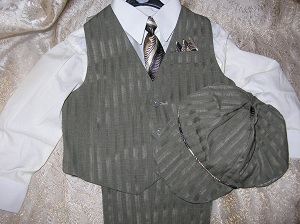 Vangogh Toddler Boy 5 Piece Suit 2T
