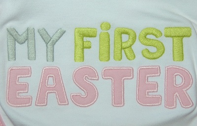 "Carter's Infant Baby Girl ""My First Easter"" Bib"