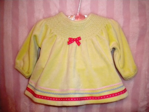 Gymboree Infant Baby Girl Dressy Pale Green Long Sleeve Top 3-6MTH