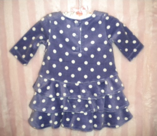 Gymboree Infant Baby Girl Purple Polka Dot Dress 3-6MTH
