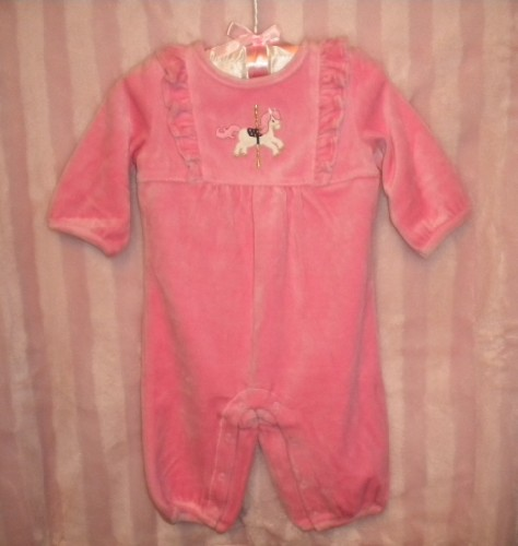 Gymboree Infant Baby Girl Long Sleeve One Piece Outfit w/Horse 3-6MTH
