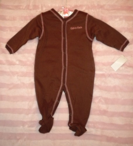 Calvin Klein Infant Baby Girl Brown Outfit 3-6MTH
