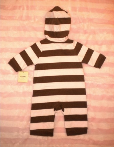 Old Navy Infant Baby Girl One Piece with Hood 0-3MTH