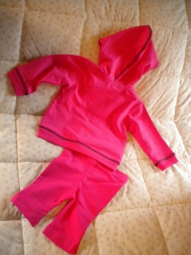 BE Basic Infant Baby Girl 2 Piece Hot Pink Outfit 9MTH