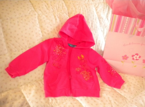 The Children's Place Baby Toddler Girl Hot Pink Jacket 12MTH