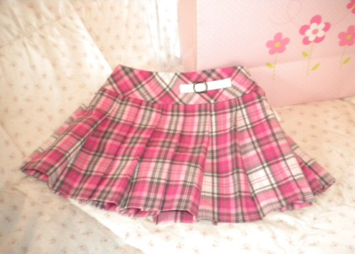The Children's Place Infant Baby Girl Pink/Grey Plaid Skirt 3-6MTH