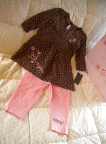 Kenneth Cole Reaction Baby Toddler Girl 2PC Outfit 18MTH