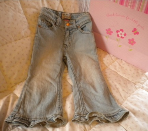 The Children's Place Baby Toddler Girl Ruffled Jeans 24MTH