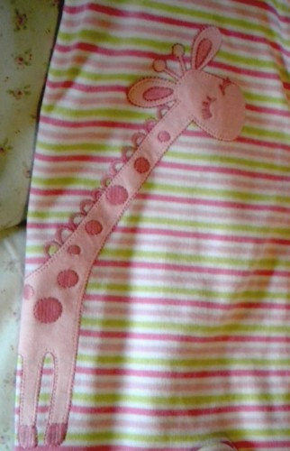 Gymboree Infant Baby Girl Striped Giraffe Outfit 0-3MTH