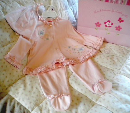 Little Me Infant Baby Girl 3 Piece Pink Outfit 9MTH