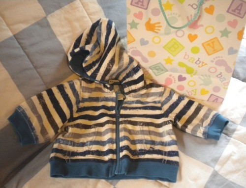 The Children's Place Infant Baby Boy Hooded Striped Sweatshirt 3-6MTH