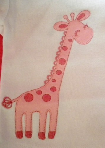 Gymboree Newborn Infant Baby Girl Shirt with Pink Giraffe