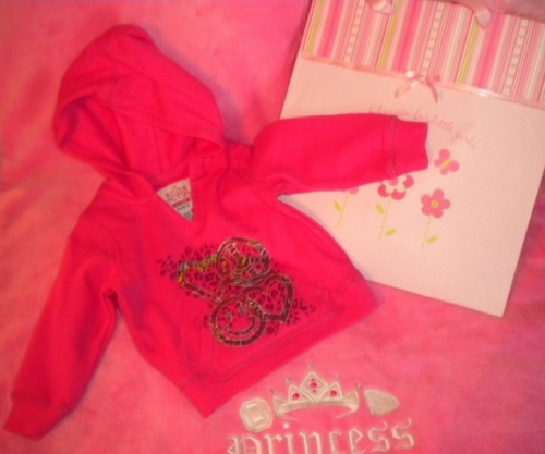 The Children's Place Infant Baby Girl Pink Hooded Sweatshirt 6-9MTH