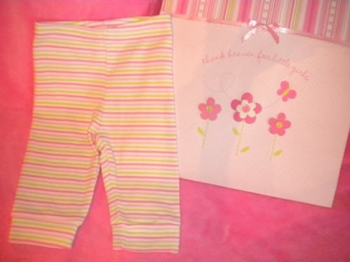 Gymboree Infant Baby Girl Striped Leggings 6-12MTH