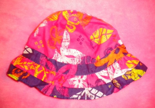 The Children's Place Infant Baby Girl Pink and Purple Sunhat 0-3MTH