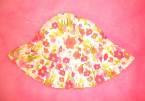 Gymboree Infant Baby Girl Floral Sunhat 0-3 Month