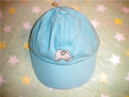 Gymboree Infant Baby Boy Baseball Cap Teal w/Elephant 0-3MTH