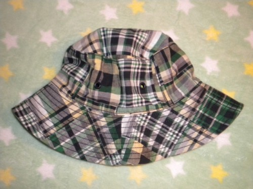 Gymboree Toddler Boy Green Plaid Sunhat 2T-3T