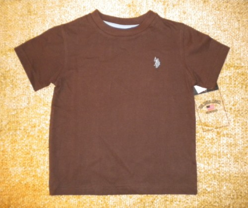 US Polo Assn. Toddler Boy Brown Shirt 2T