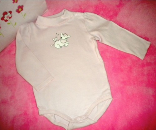 Gymboree Baby Toddler Girl Long Sleeve Onesie w/Zebra 12-18MTH