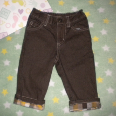 Gymboree Infant Baby Boy Brown Jeans 3-6 MTH