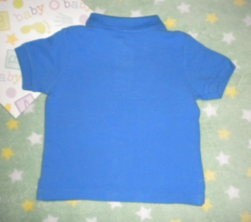 The Children's Place Infant Baby Boy Blue Short Sleeve Polo 6-9MTH