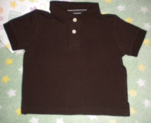 The Children's Place Infant Baby Boy Brown Short Sleeve 6-9MTH Collar
