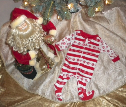 Christmas The Children's Place Infant Baby Jammies/Outfit 0-3MTH