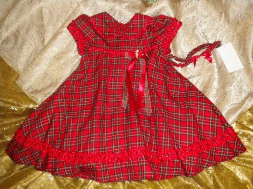 christmas rare editions red plaid holiday dress 3t