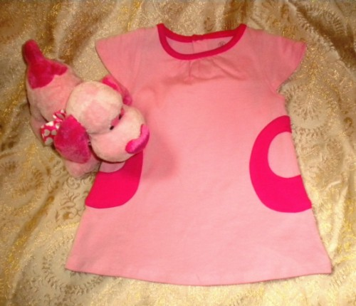 BE Basic Infant Baby Girl Pink Dress 6MTH