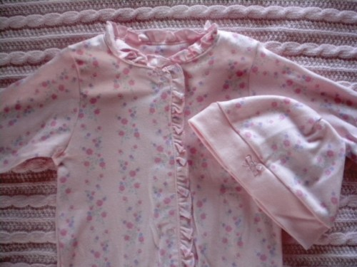 Koala Baby Infant Baby Girl Pink Floral Outfit w/Hat 6-9MTH