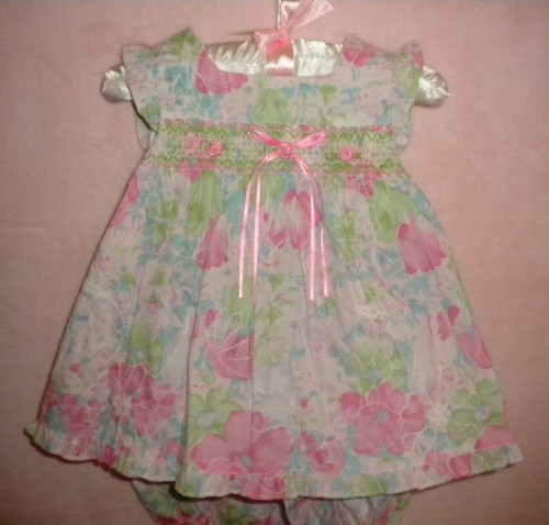 Rare Editions Baby Toddler Girl 3PC Floral Dress Set 12MTH