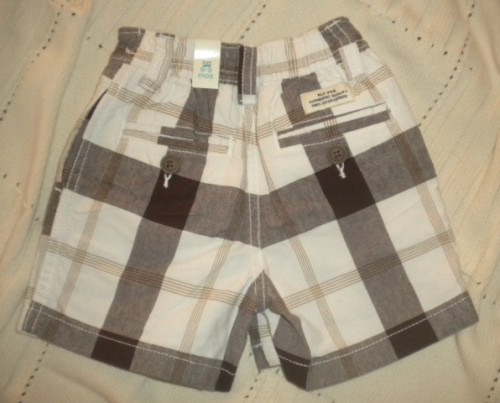 The Children's Place Infant Baby Boy Brown/Tan Dressy Shorts 6-9MTH
