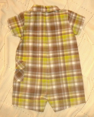 Carter's Infant Baby Boy Plaid 1PC w/Puppy 9MTH