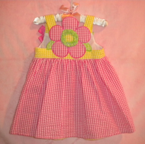 Bonnie Baby Infant Baby Girl Pink Checked Sundress 12MTH