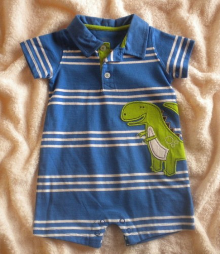 Carter's Infant Baby Boy Blue & White Striped 1PC 6MTH