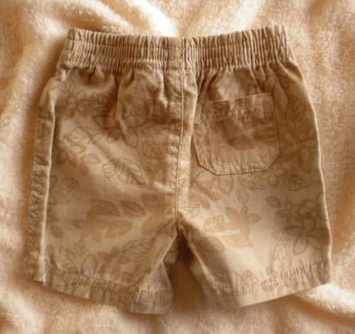 Jumping Beans Infant Baby Boy Tan Print Shorts 6-9MTH