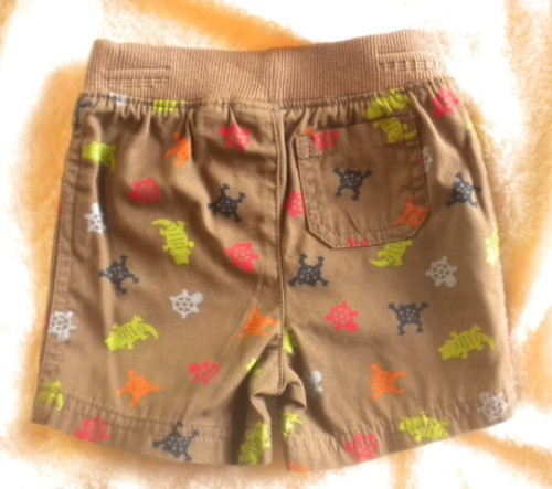 Jumping Beans Infant Baby Boy Brown Shorts w/Frogs 6-9MTH