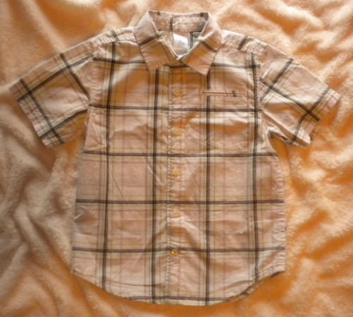 Gymboree Toddler Boy Short Sleeve Plaid Dress Shirt 3T-4T