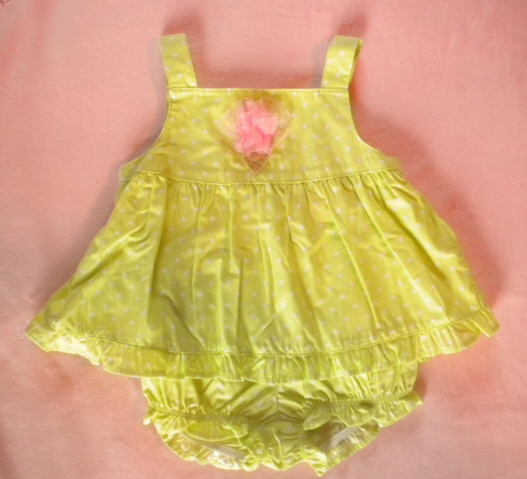Gymboree Infant Baby Girl Green Polka Dot Outfit 6-12MTH