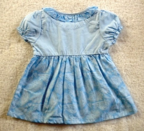 Healthtex Baby Toddler Girl Blue & White Top 24MTH