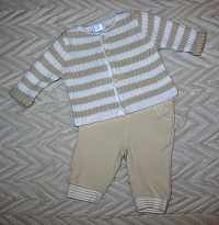 The Children's Place Infant Baby Boy Tan Sweater Set 0-3MTH