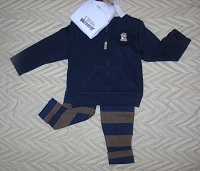 Carter's Baby Boy 3PC Blue & Brown Outfit 12MTH